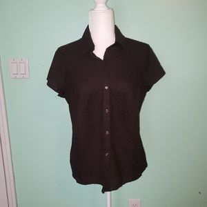 Kim Roger's Brown Collared Short Sleeve Shirt